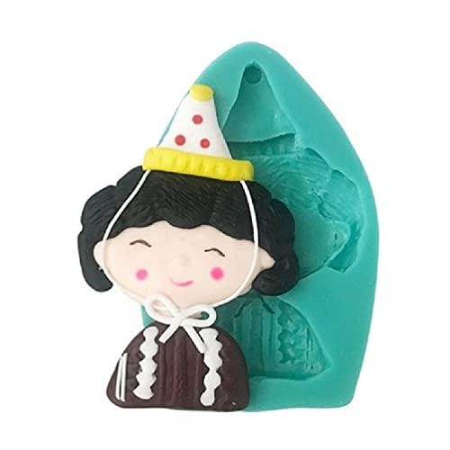 henan 3D Mütter Opa Oma Langlebigkeit ältere Silikonform dekorieren Werkzeug Schokoladenkekse Fondant Epoxidharzform Geburtstag