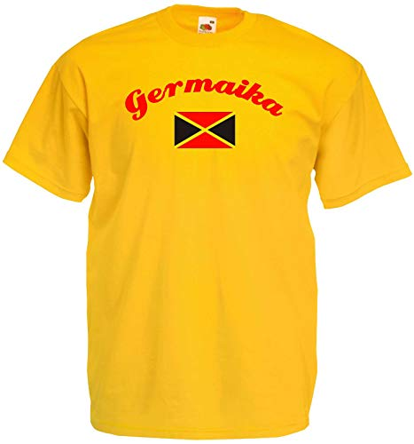 World of Shirt Herren T-Shirt Jamaica/Germaika im Trikot Look
