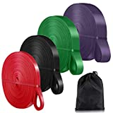 Pull Up Assist Bands,Exercise Resistance Bands for Body Stretching, Powerlifting, Resistance Training (Set-4)