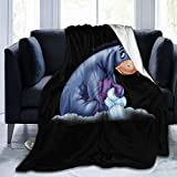 Trikahan Acmiran Eeyore Sherpa Fleece Blanket Ultra Soft and Cozy Throws (50'x40'/60'x50'/ 80'x60') for Couch Bed