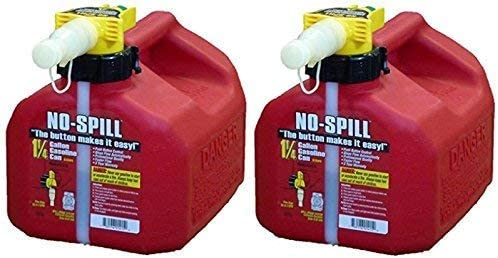 popular No-Spill 1415 1-1/4-Gallon Poly Gas outlet sale Can discount (CARB Compliant) , 2 Pack online