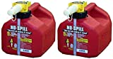 No-Spill 1415 1-1/4-Gallon Poly Gas Can (CARB Compliant) , 2 Pack