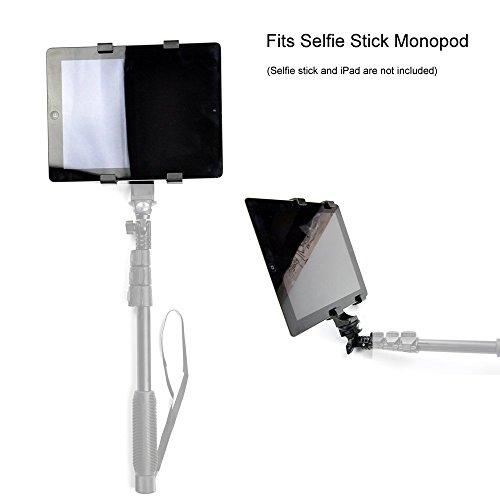 Zacro Supporto Tablet Universale per Treppiede Monopiede Bastone Selfie, Adattatore Supporto Regolabile per Apple iPad 2 3 4 iPad Mini, Samsung Galaxy Tab 2 3 4 Pro, Tab S, Microsoft Surface