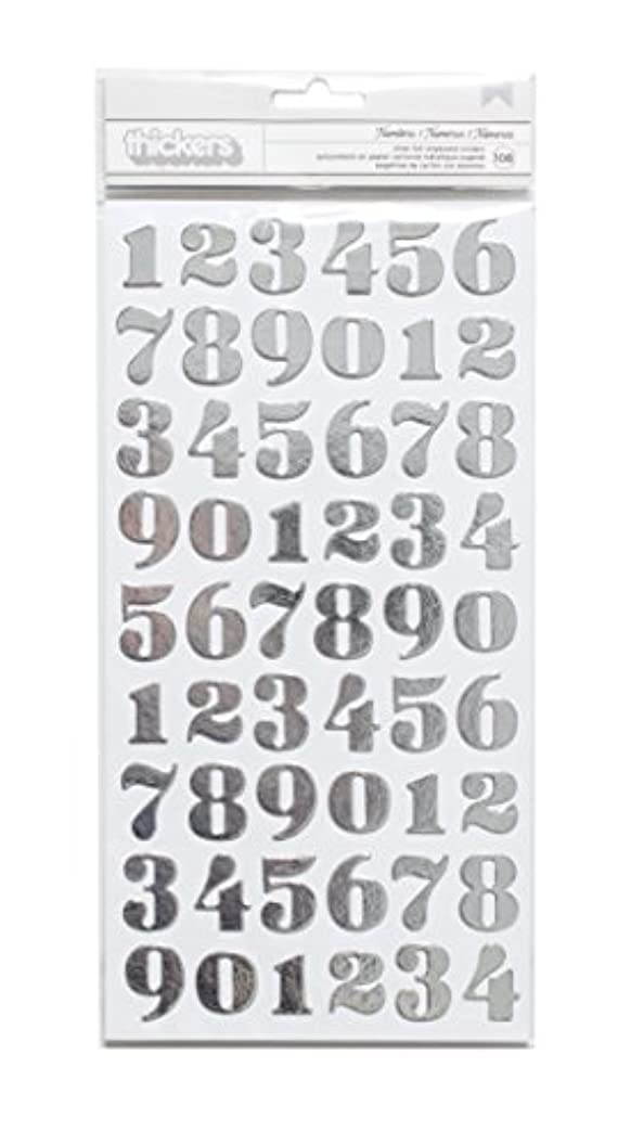 American Crafts Motion DIY 3 Silver Foil Number Thicker 108 Piece lwsfnqdmrjc45