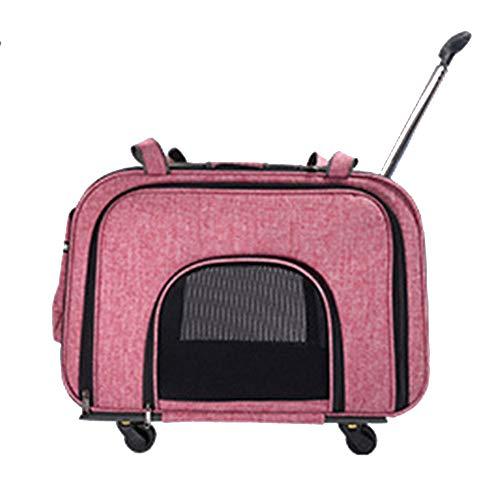 liu reistas voor huisdieren, kleine dieren trolley draagtas vouwbaar katentransport rugzak luxe reiswieg