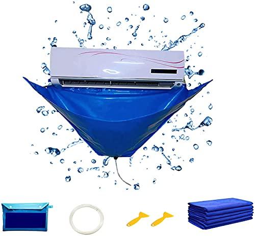 Set di coperture per la pulizia del condizionatore d'aria, Condizionatore d'aria a parete riutilizzabile Sacchetto di raccolta dell'acqua per la pulizia Condizionatore per il dell'acqua per 1-1.5P