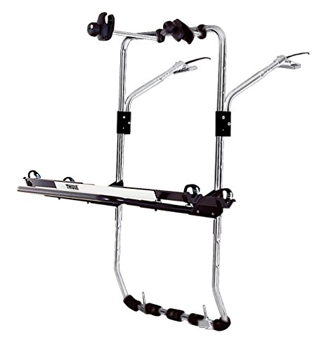 Thule BackPac 2, Portabicicletas de alto nivel, de tipo plataforma elevada flexible, diseñado para furgonetas (para 2-4 bicicletas).
