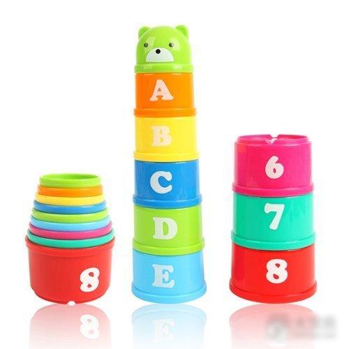 Brave Hope puzzle Early Learning Illuminismo giocattoli per bambini, giocattoli di misurazione Cup Stacking regali per bambini * 1