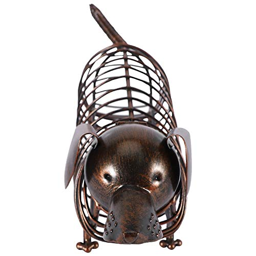 YeBetter - Estatua de animales de metal con corcho para vino, diseño moderno de hierro artificial para decoración del hogar