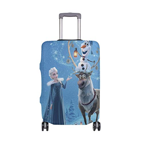 Travel Lage Cover Olaf's Frozen Adventure Animation Princ Suitcase Protector Fits 26-28 Inch Washable Baggage Covers