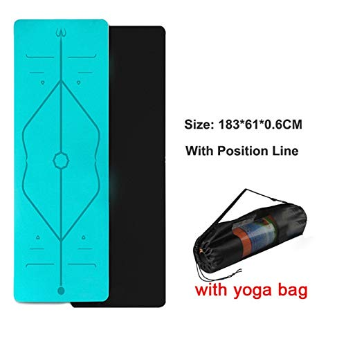 1830 * 610 * TPE yoga mat in de sportschool 6 mm lijn positie Pilates mat sport mat yoga als een fitnessruimte en matrassen voor fitness Pilates Mat Oefening,Mi 12 Beutel