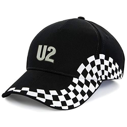 orestamazon U2 Rockband Bestickte Logo Baseball Cap Mütze VIP Premium Qualität - k 1166 - SW - VIP
