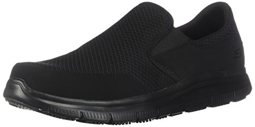 Skechers Men's Black Flex Advantage Slip Resistant Mcallen Slip On - 9.5 D(M) US