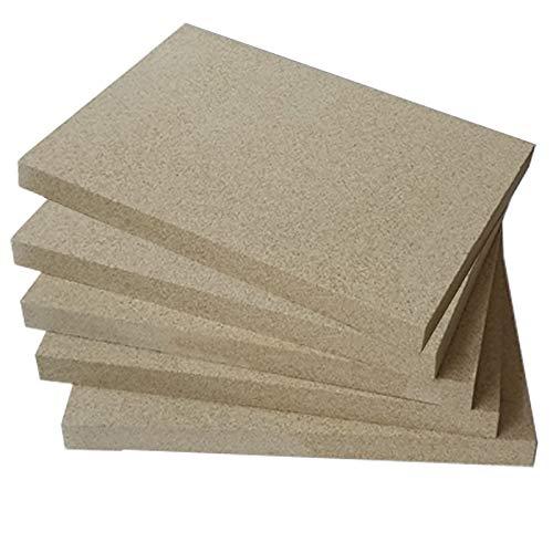 Vermiculite Platten 400x600mm 25mm stark 5 Platten Feuerraum Auskleidung Schamotteersatz Ofen