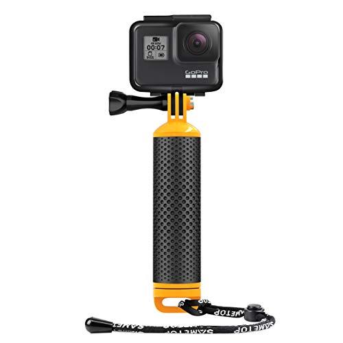 Sametop Schwimmender Handgriff Wasserdicht Handgriff Floating Hand Grip Einbeinstativ Tauchen Stock Kompatibel mit GoPro Hero 6, 5, 4, Session, 3+, 3, 2, 1 Kameras