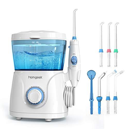 Upgrade Water Flosser, 600ML Water Flosser Teeth Cleaner for Family, Homgeek Anti Leakage Dental...