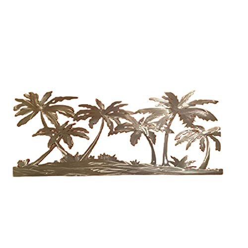 Btlesa Decoración para el hogar, palmeras en la playa, obras de arte de pared de metal montado en la pared, acentos decorativos para sala de estar o mesa de comedor