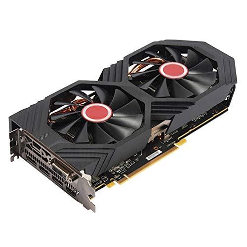 WSDSB Apto Fit For XFX RX 580 Tarjeta De Video De 8GB AMD Radeon RX580 Tarjetas De Pantalla Gráfica De 8GB Tarjeta De Video GPU 2304SP...