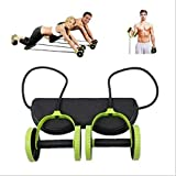 Máquina de entrenamiento abdominal con doble rueda de rodillo AB Máquina de entrenamiento, rodillo de entrenador de abdominales, rueda de rodillo abdominal, Equipo de gimnasio en casa Fitness (2)