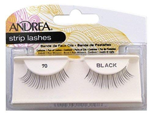 Andrea Strip Lashes Style 70 Black (6 Pack) by Andrea