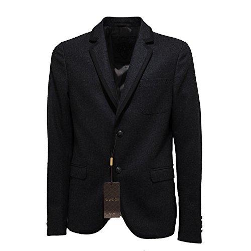 Gucci 6830L Giacca Uomo Grigia Lana Giacche Jackets Coats Men [50]