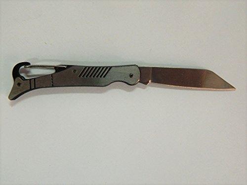 jin Couteau pliants Poche léger 14cm Manche métal Lame 5,5cm Motif Gris