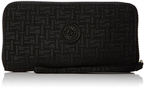 Kipling Damen Alia Geldbörse, Schwarz (Black Pylon Emb), 2x19x10 cm