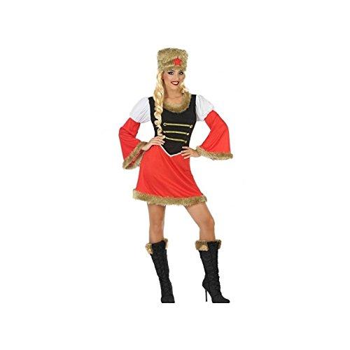 Atosa-54423 Disfraz Rusa, Color Rojo, M-L (54423)