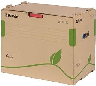 Esselte Boîte de Classement & Transport avec Couvercle et Ouverture par l'Avant pour Classeurs, 100% Carton Recyclé, Brun ...