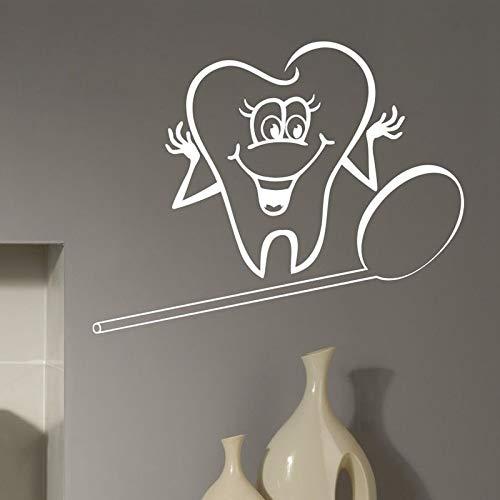 Tianpengyuanshuai tandpasta tandartst muursticker kunst vinyl sticker decoratieve sticker dental etalage decoratie