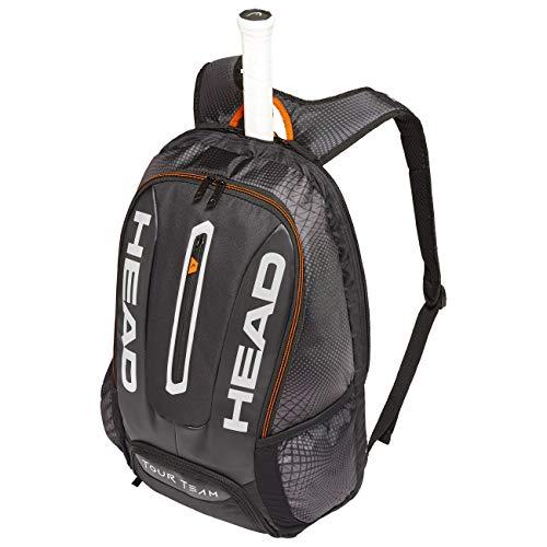 HEAD Unisex– Erwachsene Tour Team Backpack Tennistasche, black/silver, Einheitsgröße