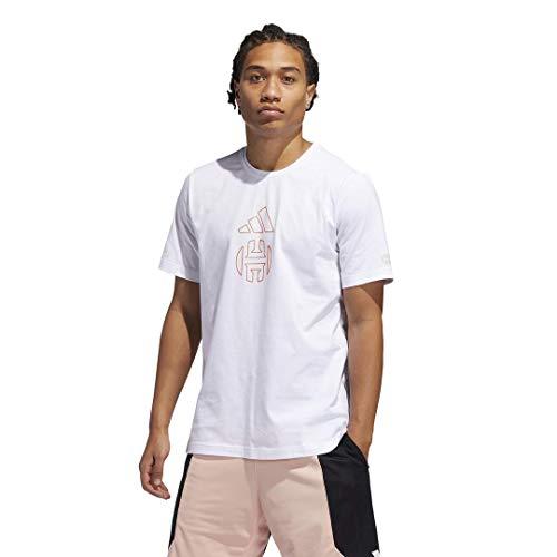 adidas Harden Individuality Logo Camiseta, Blanco, M para Hombre