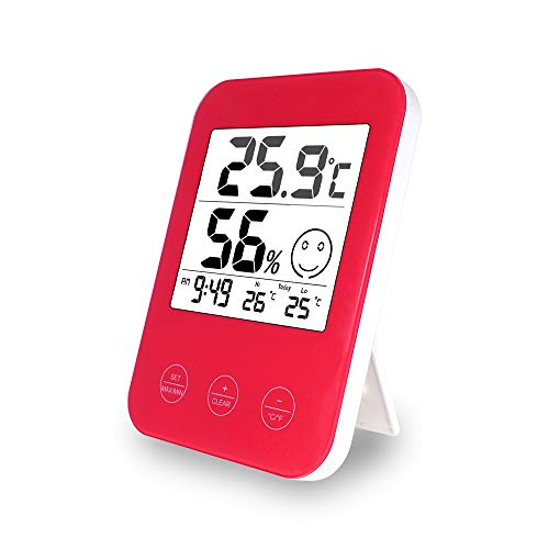 BIGMALL Digitaluhr LCD-Thermometer Hygrometer Wetterstation Tester Temperatur Wandtisch Desktop Home Decor Uhr,A
