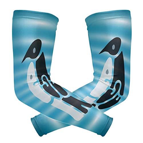 DEZIRO Geweldige Pinguïn Knuffel Koeling Arm Mouwen Oversleeve Sunblock voor Mannen Vrouwen Jeugd