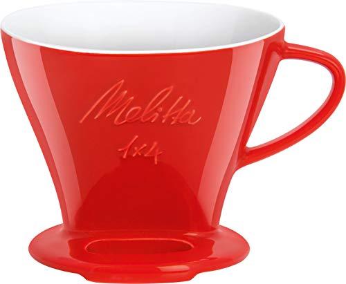 Melitta 219032 Filter Porzellan-Kaffeefilter Größe 1x4 Rot