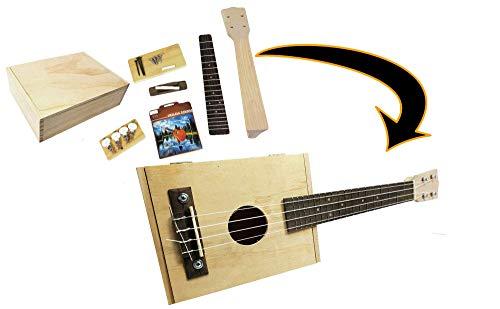 Complete Cigar Box Ukulele Kit - Easily build your own cigar box uke! All parts, hardware & instructions included.