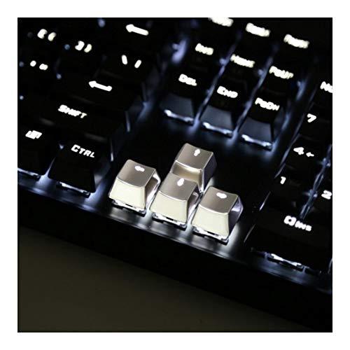 Man-hj Teclas del Teclado Teclado MX Eje Metal Nombres de Teclas permeables a la luz de Keypress WASD aleación de Zinc Llave for Tapones de Transmisión de luz (Color : Silver Arrow)
