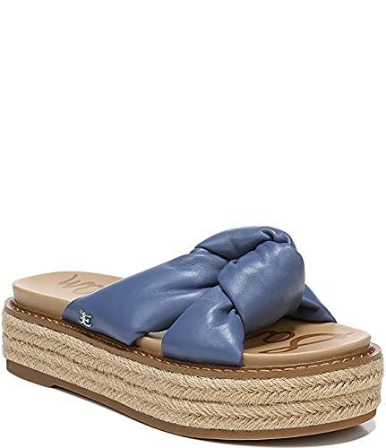 [サムエデルマン Sam Edelman] シューズ 24.0 cm スリッポン・ローファー Kory Leather Platform Slip-On Knot Detai Blue レディース [並行輸入品]