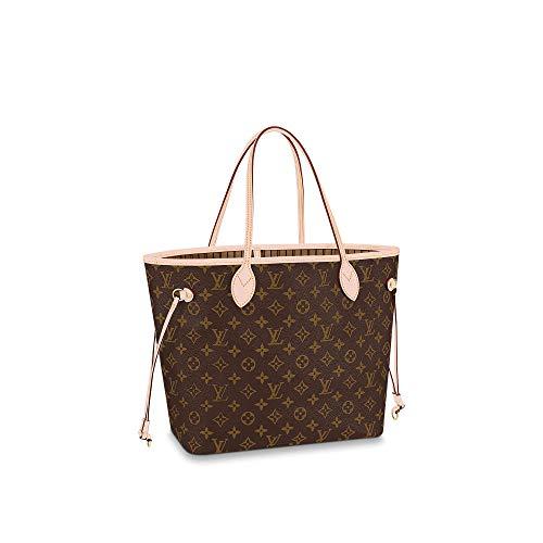 Louis Vuitton Neverfull MM Monogram Bags Handbags Purse (Beige)