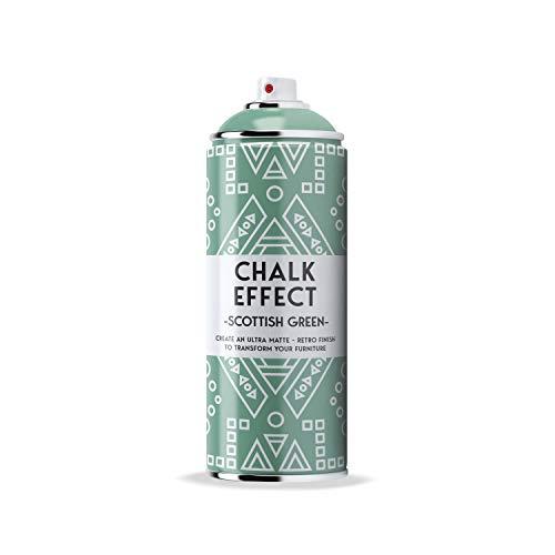 Kreidefarbe Spray Chalk Effect, grün - hochwertige chalky Kreidesprühfarbe Farbspray - grüne Spray Paint Farbe (Scottish green)