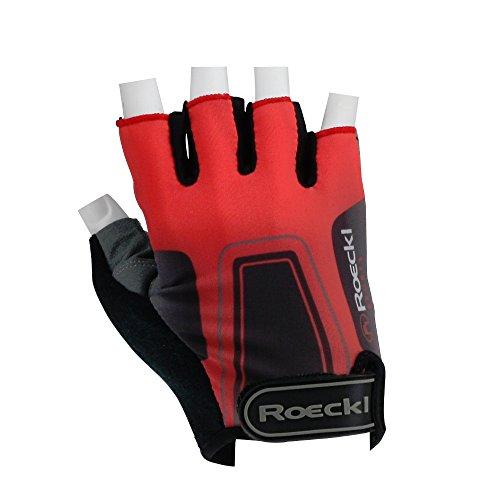 Roeckl guantes de ciclismo MTB verano corto del dedo rojo-gris-negro 1238, handschuhgröße:7...