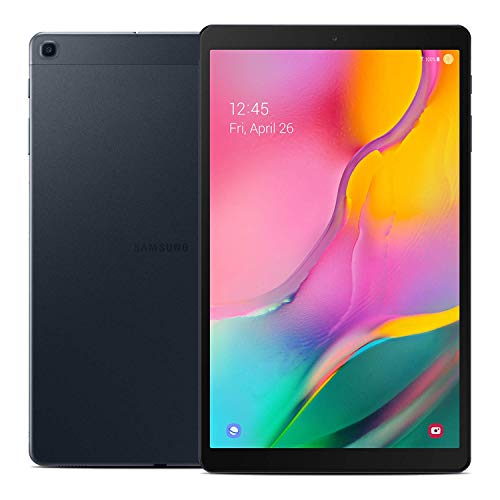 "Samsung Galaxy Tab A 10.1"" (2019, WiFi + Cellular) Full HD Corner-to-Corner Display, 32GB 4G LTE Tablet & Phone (Makes Calls) GSM Unlocked SM-T515, International Model (32 GB, Black)"