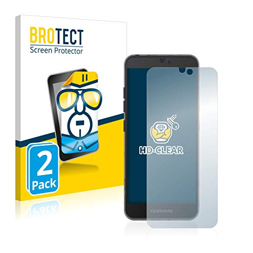 BROTECT Protector Pantalla Compatible con Fairphone 3 Protector Transparente (2 Unidades) Anti-Huellas