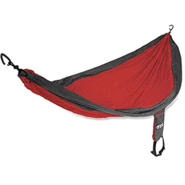 Eagles Nest Outfitters ENO SingleNest Hammock, Portable Hammock for One, Red/Charcoal