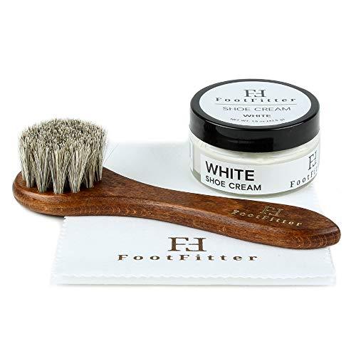 FootFitter Basic Shoe Cream Polishing and Conditioning Set- White Cream