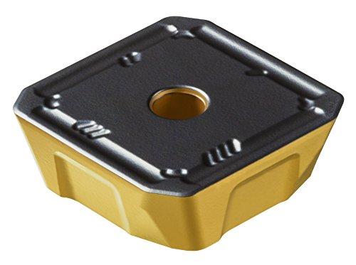 "Sandvik Coromant COROMILL Carbide Milling Insert, 360R Style, Square, GC4220 Grade, Multi-Layer Coating, 360R1906MPH,0.250"" Thick, 0"" Corner Radius (Pack of 10)"
