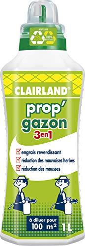 CLAIRLAND Engrais Prop Gazon 3 en 1, A diluer, Pour 100 m², 1 L, CLAIRGAZ1000