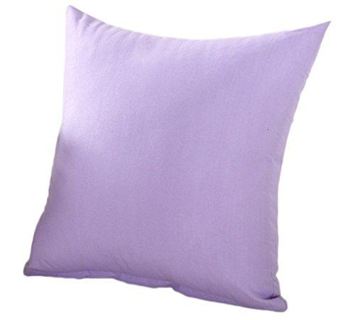 Cosanter Federa Classica Cotone Caso per Cuscino da Divano al 100% in Poliestere Sicura e Confortevole per Cuscino 45 x 45 cm (Viola Lavanda)