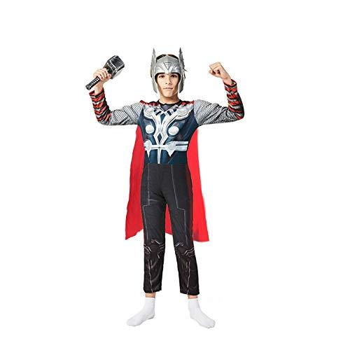 MIAOXI Disfraz De Cosplay De Estilo Muscular Thor para Nios Mono Ropa De Halloween con Accesorios De Martillo,Thor- 120~130cm