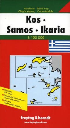 Kos-Samos-Ikaria 1:150, 000: With Cultural Guide